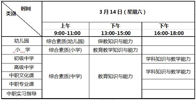 2020年(春)教师资格证笔试考试时间已确定:3月14日